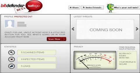 Antivirus per Facebook BitDefender Safego