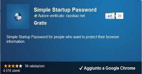 Bloccare Google Chrome con Password