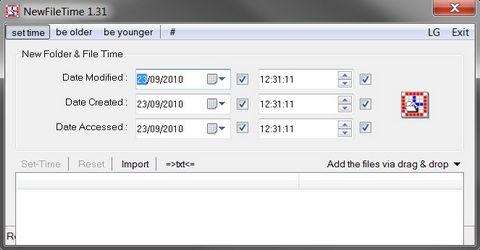 Cambiare Data di Creazione e Ultima Modifica a un File