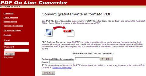 Convertire File in Pdf Gratis Online