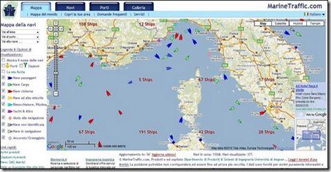 Diretta Online del Traffico Navale di Tutto il Mondo