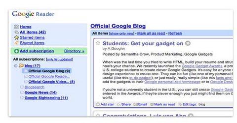 Google Reader a Portata di Firefox