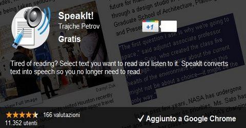 Lettore Vocale di Pagine Web con Google Chrome
