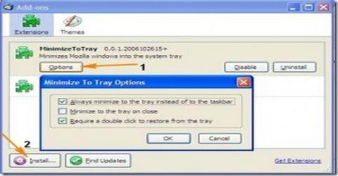 Minimizzare Firefox nella Barra delle Applicazioni