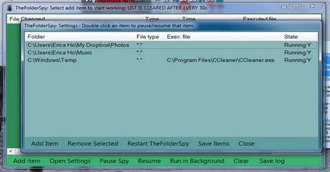 Monitorare File o Cartelle con TheFolderSpy