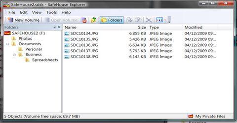 Nascondere Bloccare e Crittografare File