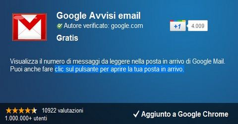 Notifiche Gmail in Tempo Reale