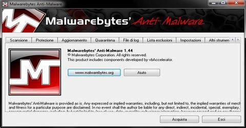 Pc Senza Infezioni con Malwarebytes'