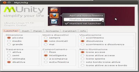 Personalizzare la Nuova Interfaccia di Ubuntu 11.10