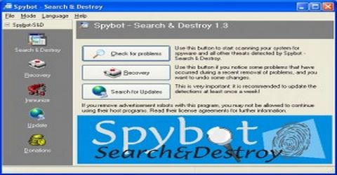 Rimuovere File Spia con Spybot Search & Destroy
