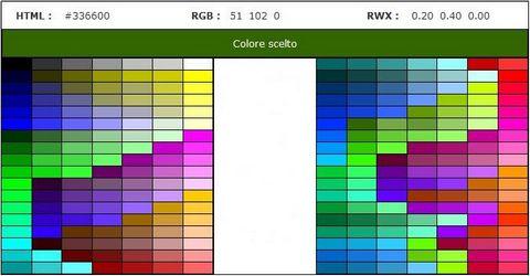Tabella Conversione Colori