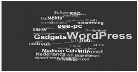 Tag Cloud 3D Nella Sidebar del Blog WordPress