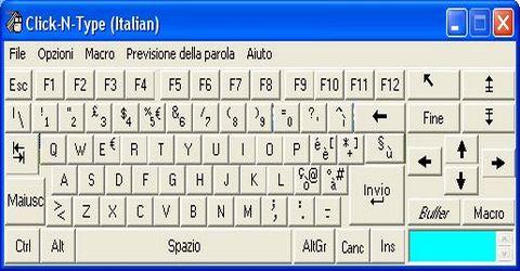 Tastiera Virtuale per Persone Diversamente Abili