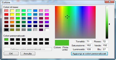 Tavolozza dei Colori Interattiva per Webmaster