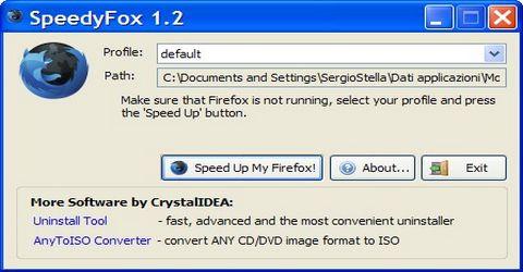 Velocizzare Firefox con SpeedyFox