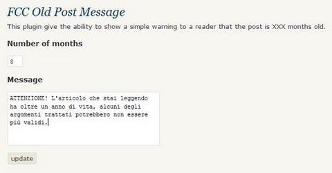 WordPress Segnalare Possibili Articoli Opsoleti