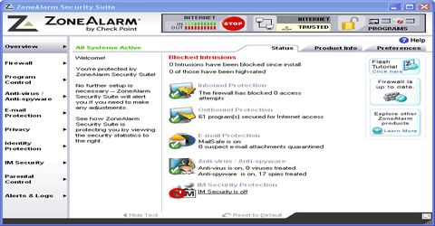 ZoneAlarm Firewall Gratuito